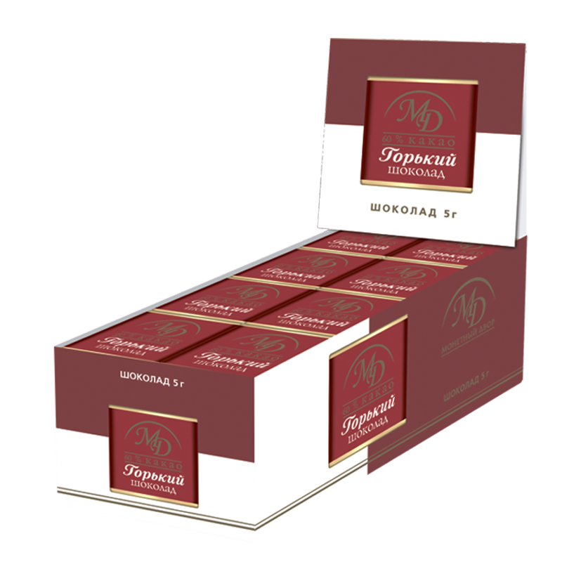 ШОКОЛАД горький 60% какао, 5г/96шт
