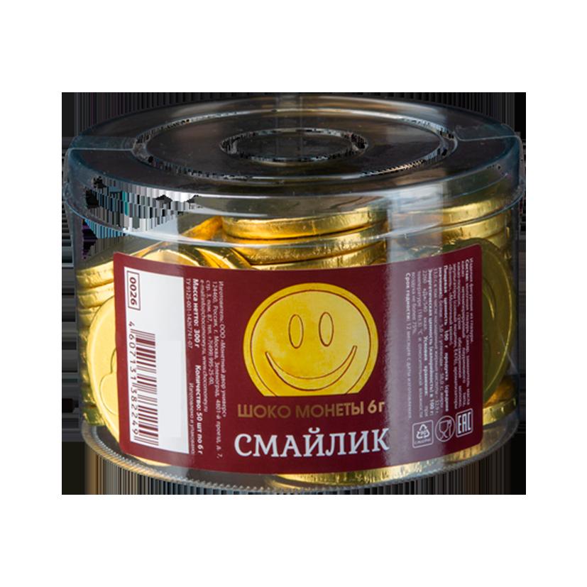 Шоколадные монеты «Смайлик»