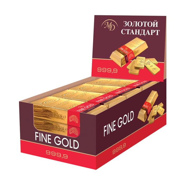 Шоколадный слиток «Золотой Стандарт» 60г
