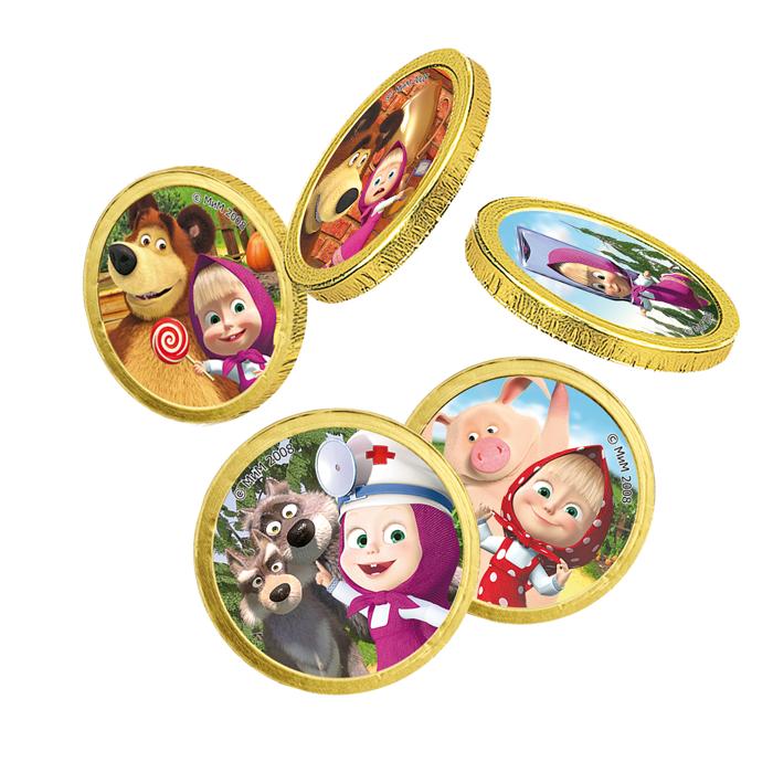 Шоколадные монеты «Маша иМедведь»