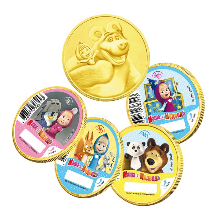 Медали 25г <nobr>«Маша и&nbsp;Медведь»</nobr>