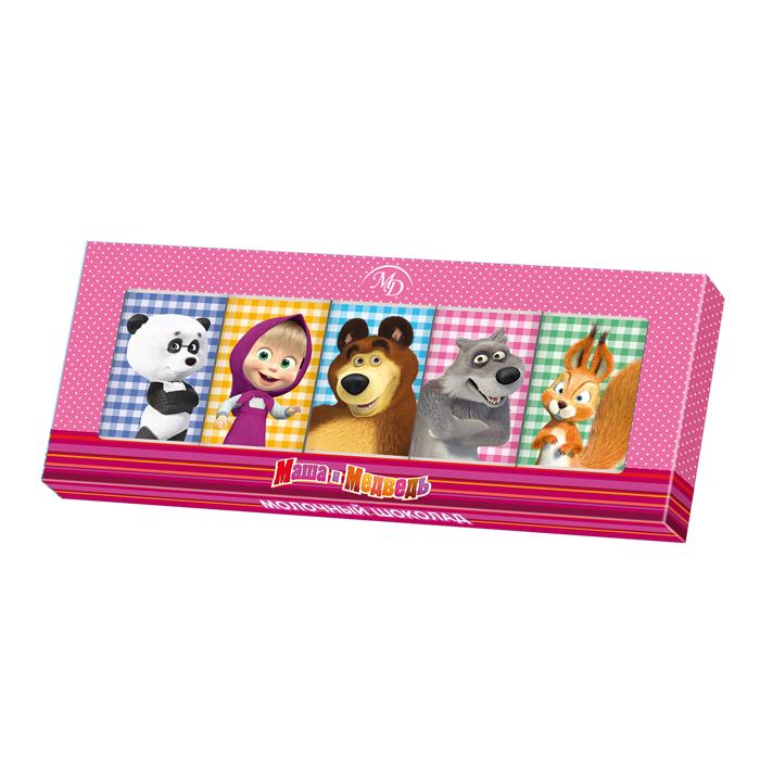Шоколадный набор «Маша и Медведь» 60гр/12шт молочный шоколад