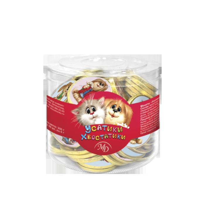 Шоколадные монеты «Усатики-Хвостатики»