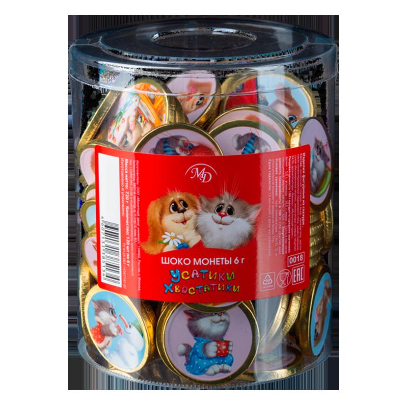 Шоко монеты «Усатики-Хвостатики»