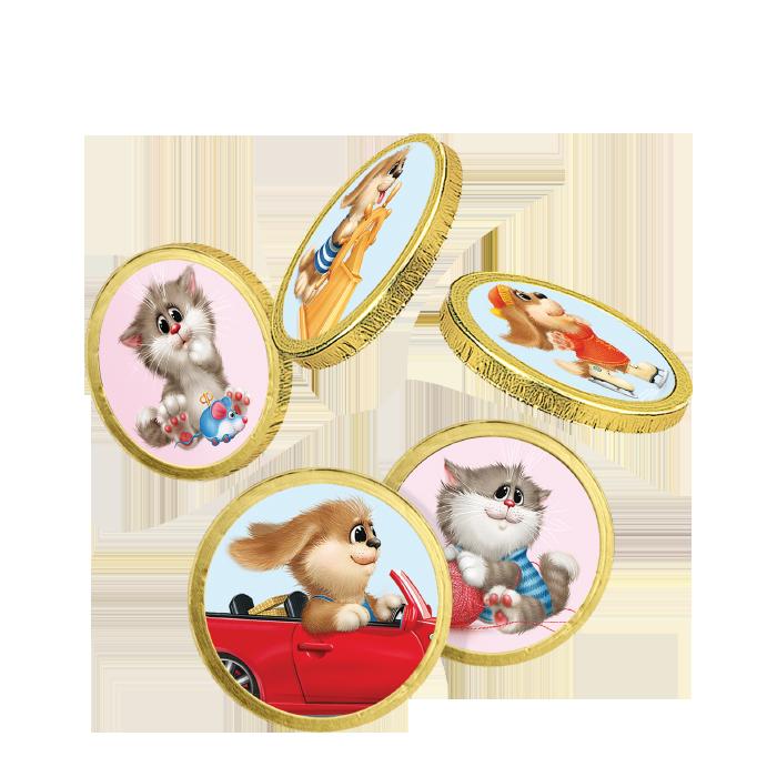 Монеты в мешочках «Усатики-Хвостатики», 150г