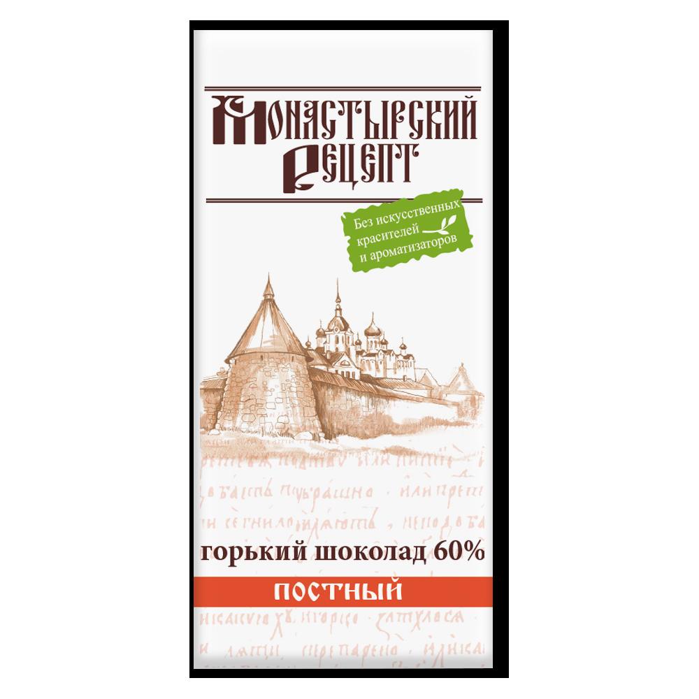ШОКОЛАД горький 60% какао «Монастырский рецепт», 85г