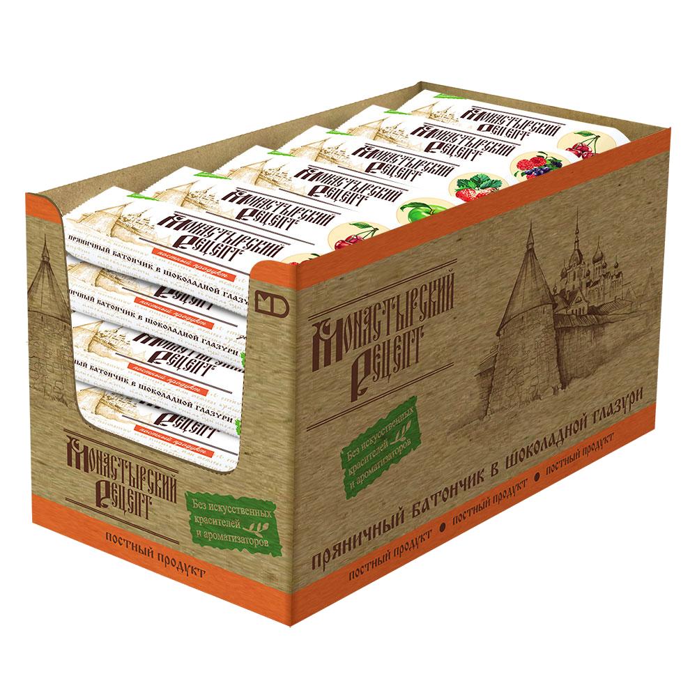 Батончик пряничный «Монастырский рецепт», ассорти, 40 г