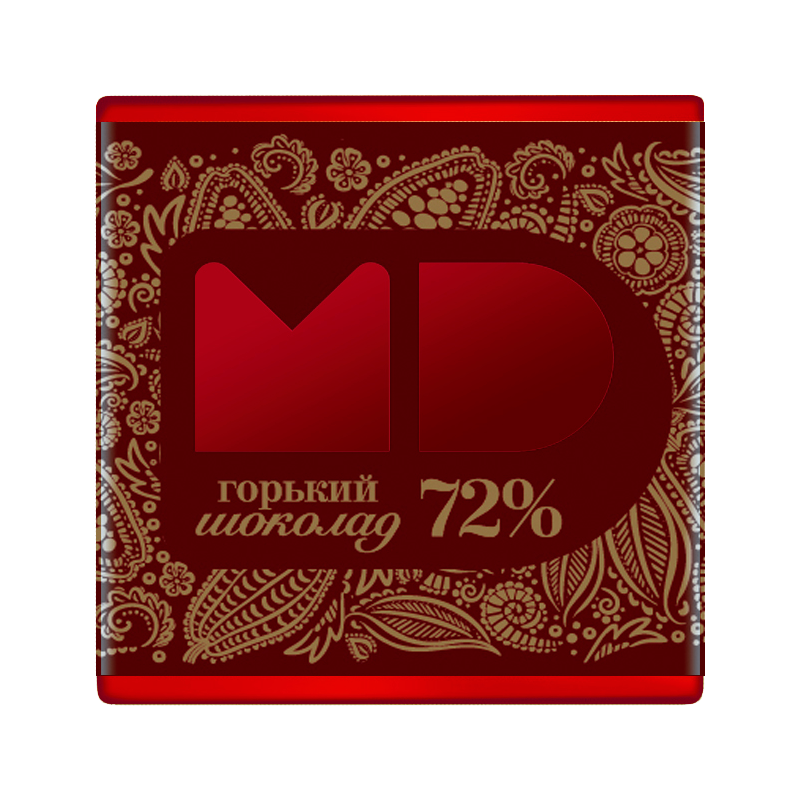 ШОКОЛАД Флагман горький 72% какао, 5г / 96 шт