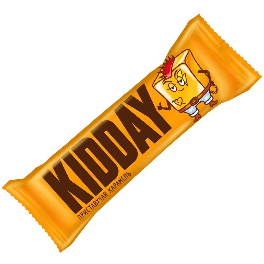 Батончик глазированный KIDDAY с начинкой со вкусом «Карамель», 40 г